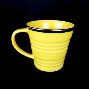 Starbucks 2007 Coffee Mug Yellow Bucket Silver